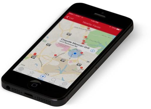Chain restaurants app for iPhone